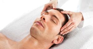 Scalp massage men